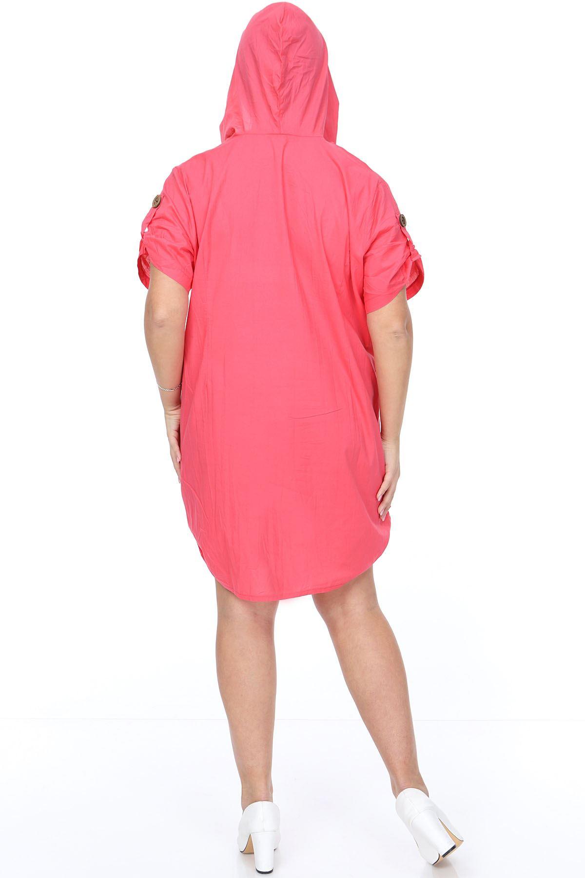 Pembe Gömlek Elbise 15F-0903