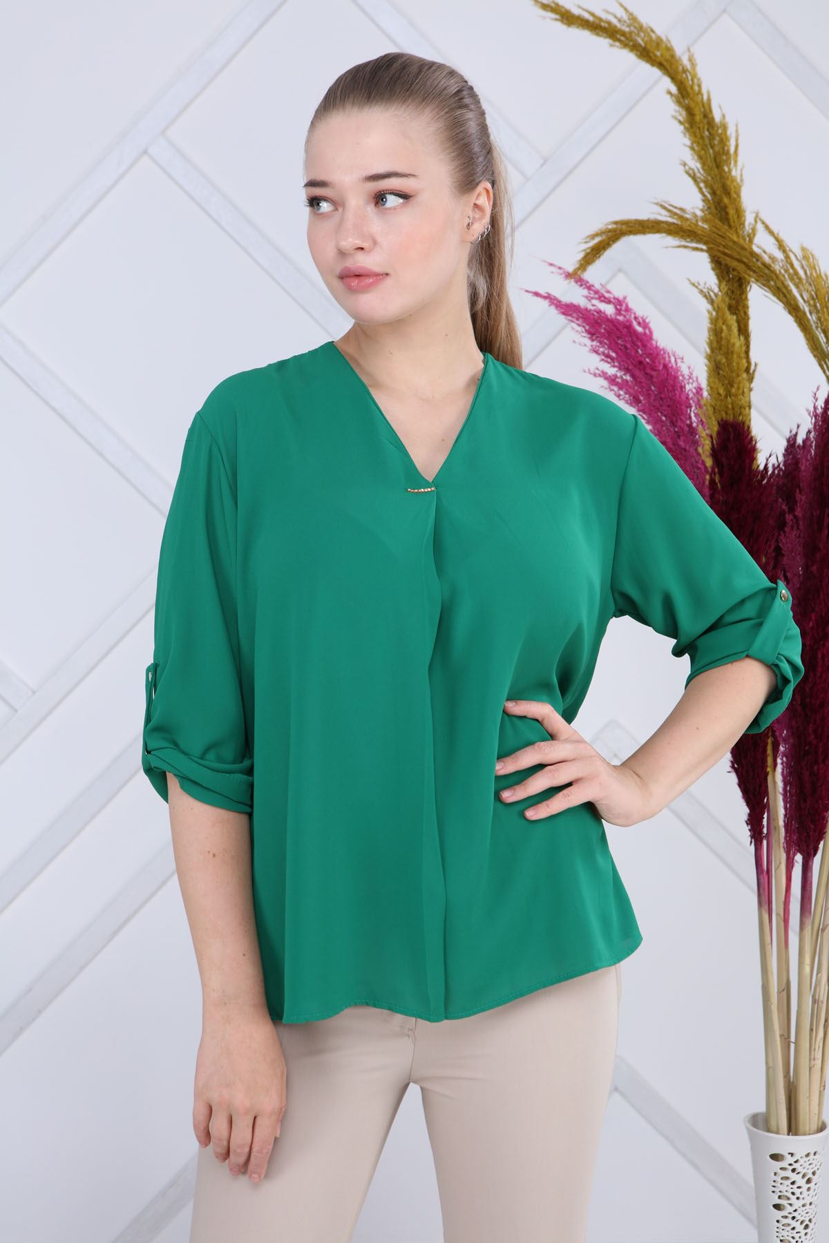 Yeşil Bluz G6-1188
