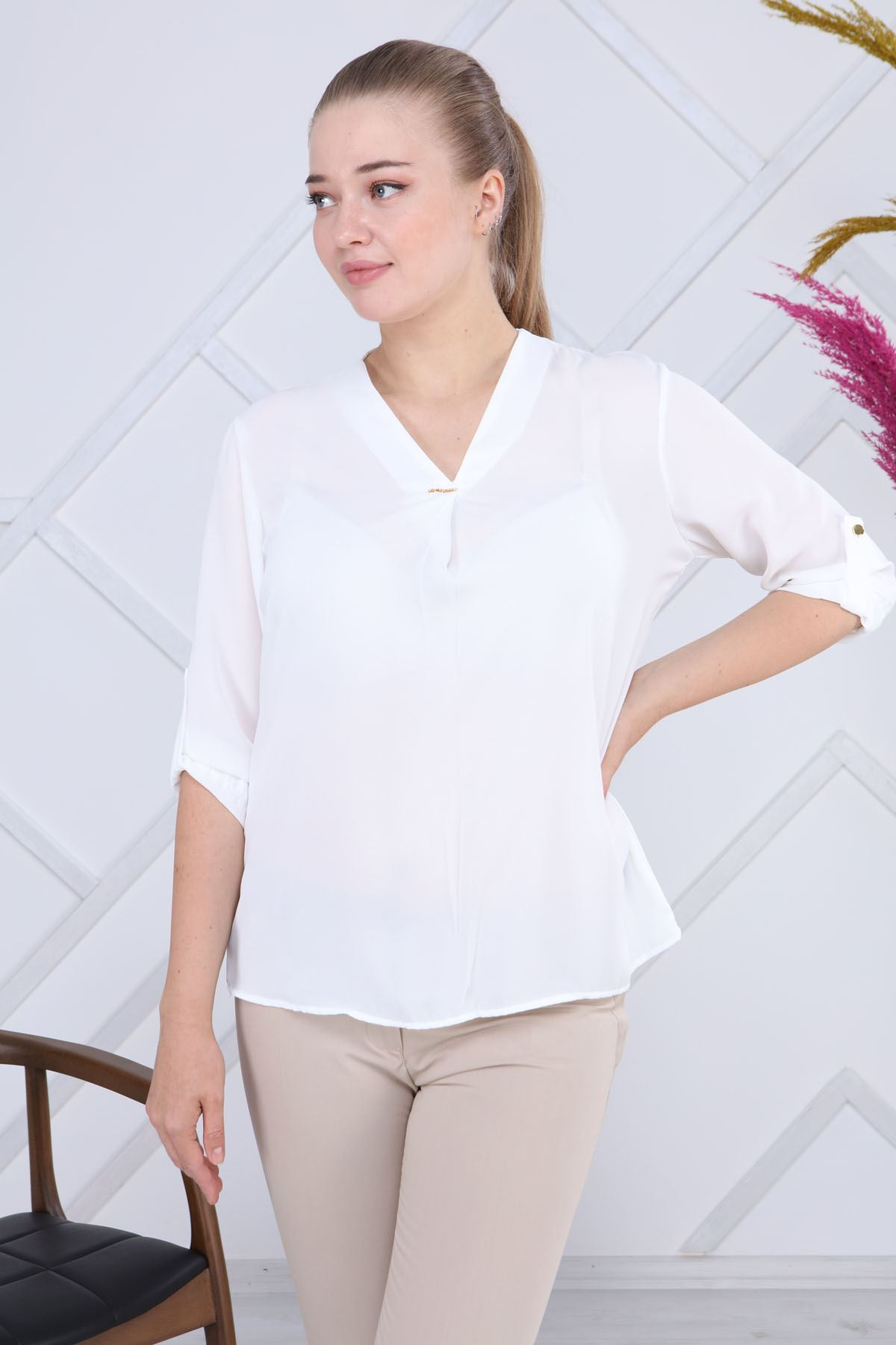 Beyaz Bluz G6-1195