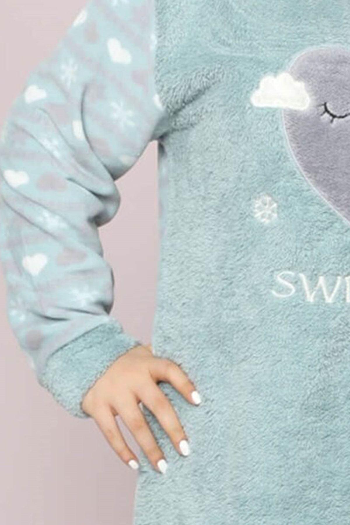 Welsoft Polar Pijama Takımı 32D-9041
