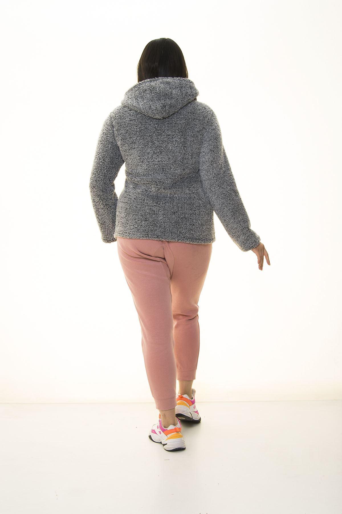 Peluş Gri Sweatshirt 30Y-1406