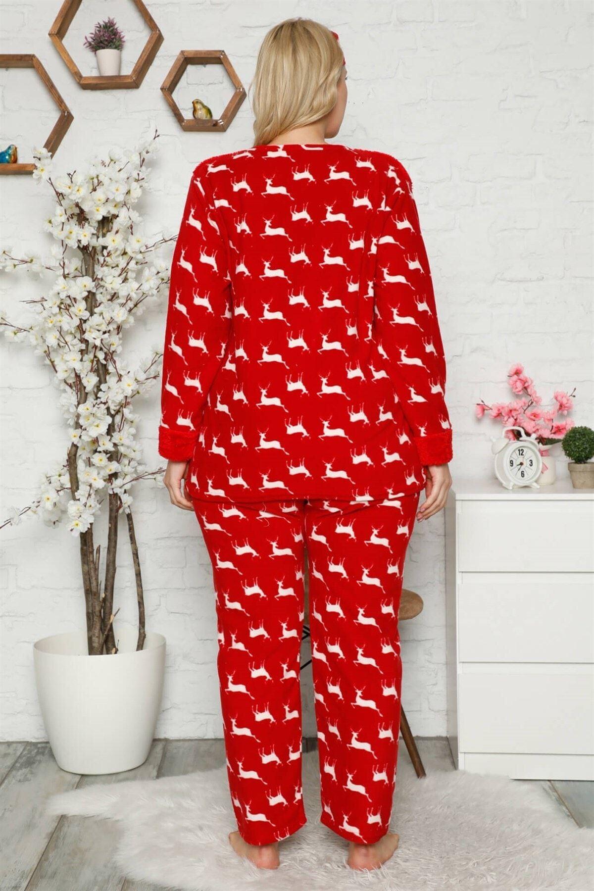 Welsoft Polar Kırmızı Pijama Takımı 32E-1450
