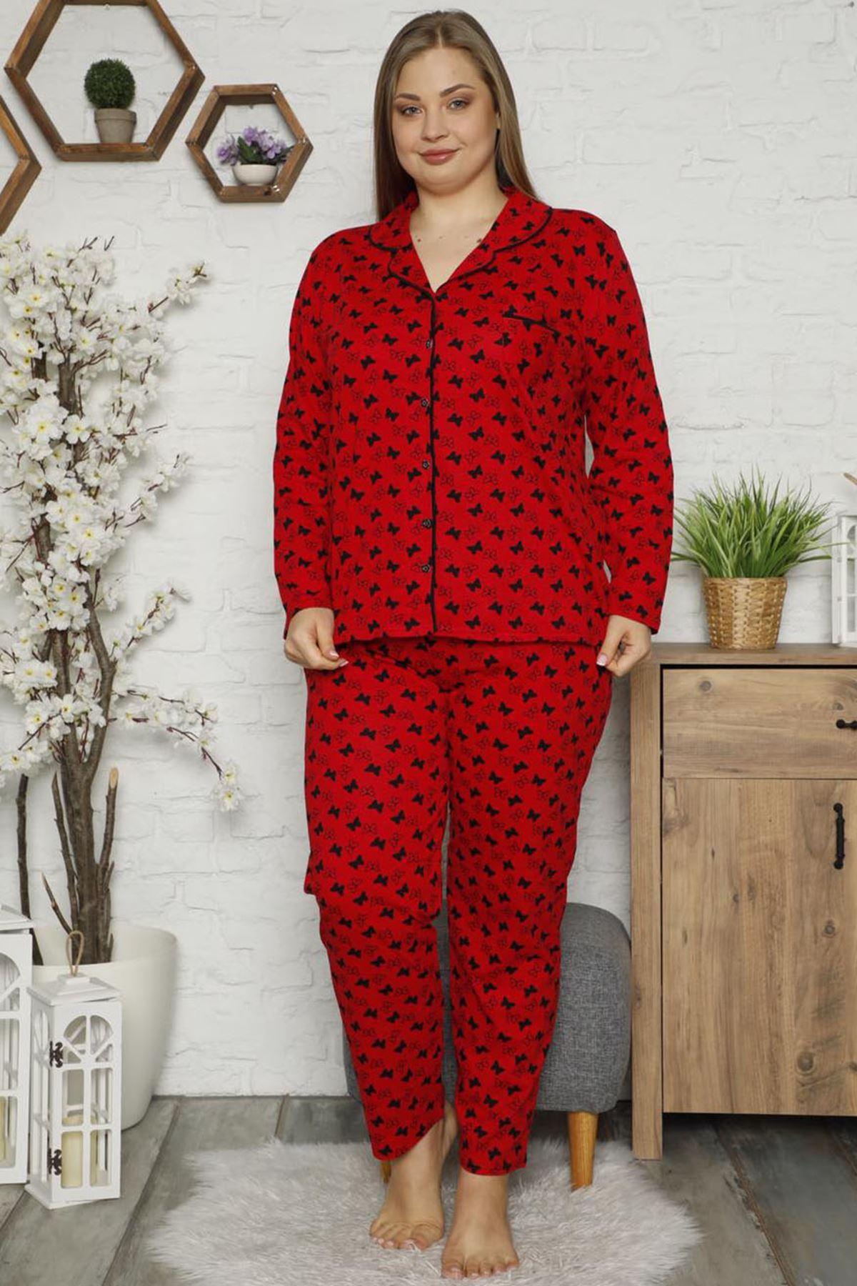 Penye Büyük Beden Pijama Takımı 32E-1479