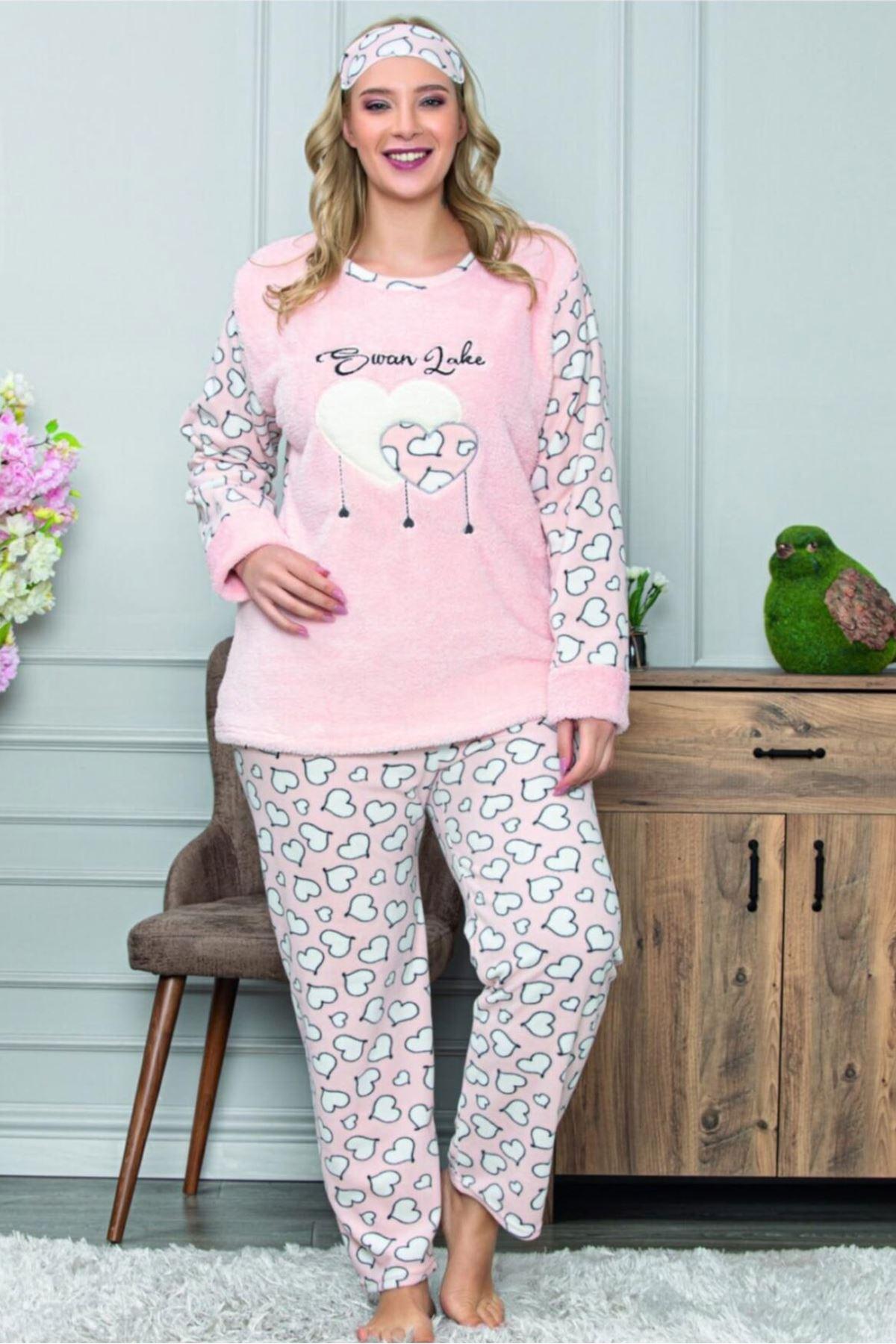 Peluş Polar Kışlık Pijama Takımı 32C-1466
