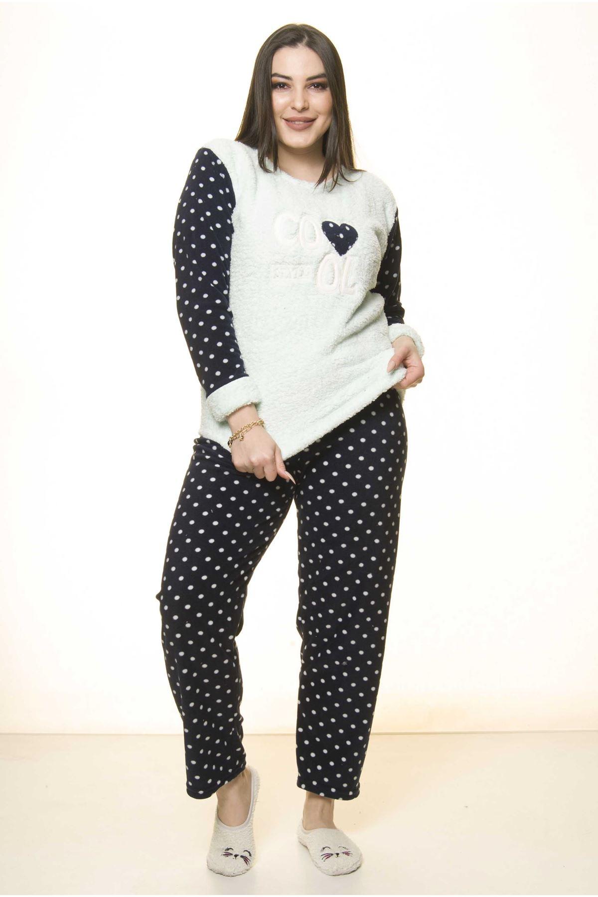 Polar Peluş Kışlık Pijama Takımı 32C-1511