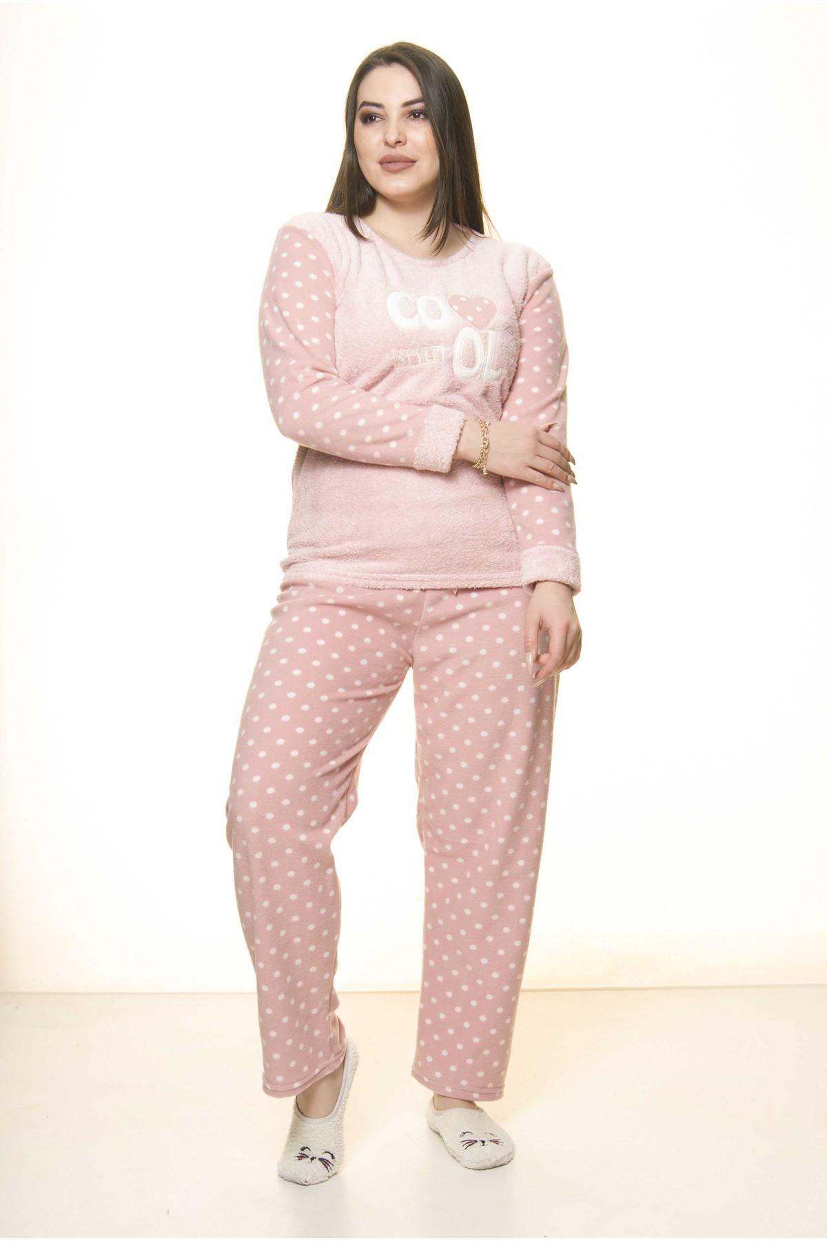Polar Peluş Kışlık Pijama Takımı 32C-1512