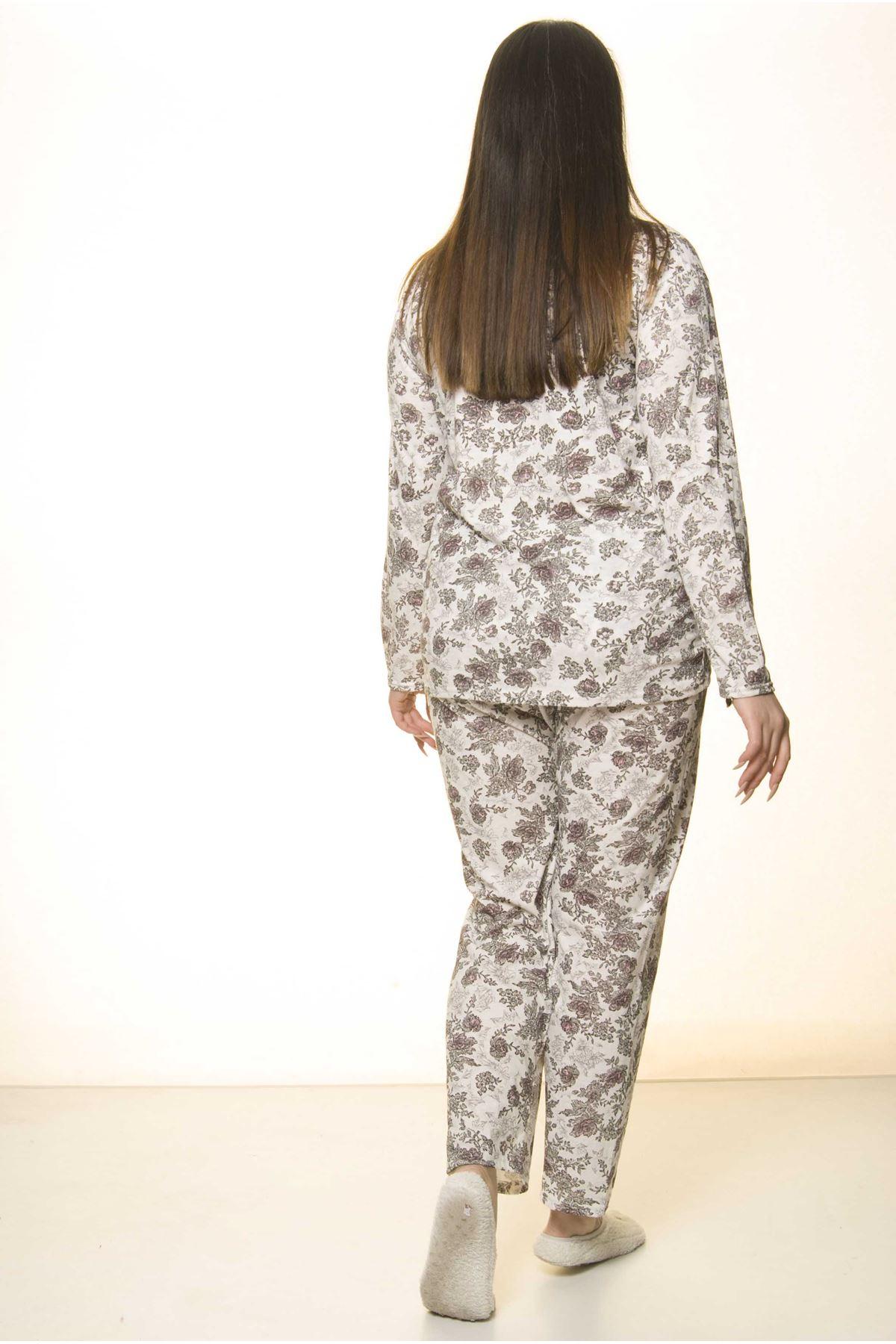 Düğmeli Geniş Kesim Pijama Takımı 31A-1554