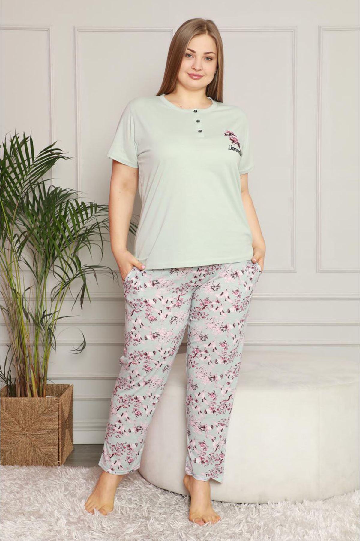 Yazlık Geniş Kesim Pijama Takımı 26B-1619