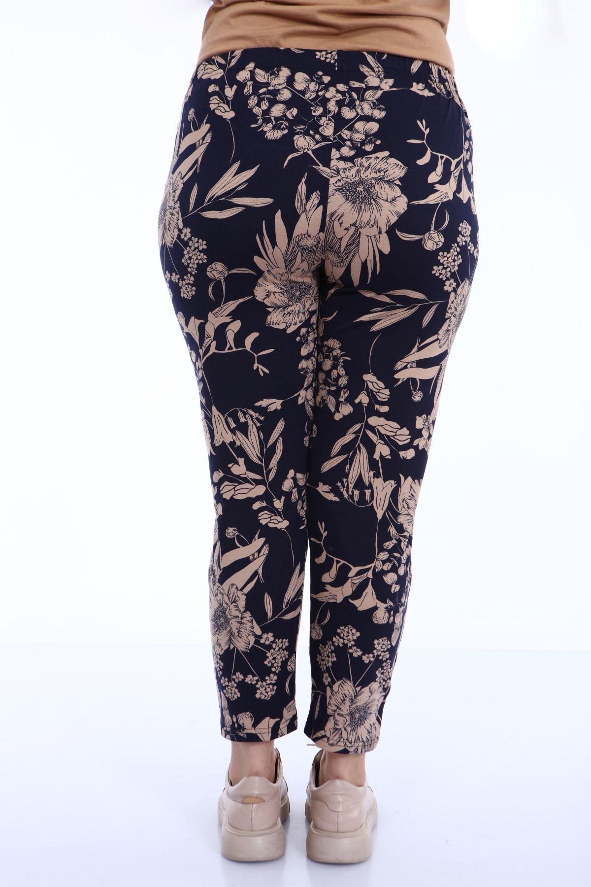 Büyük Beden Desenli Pantolon 22C-1800